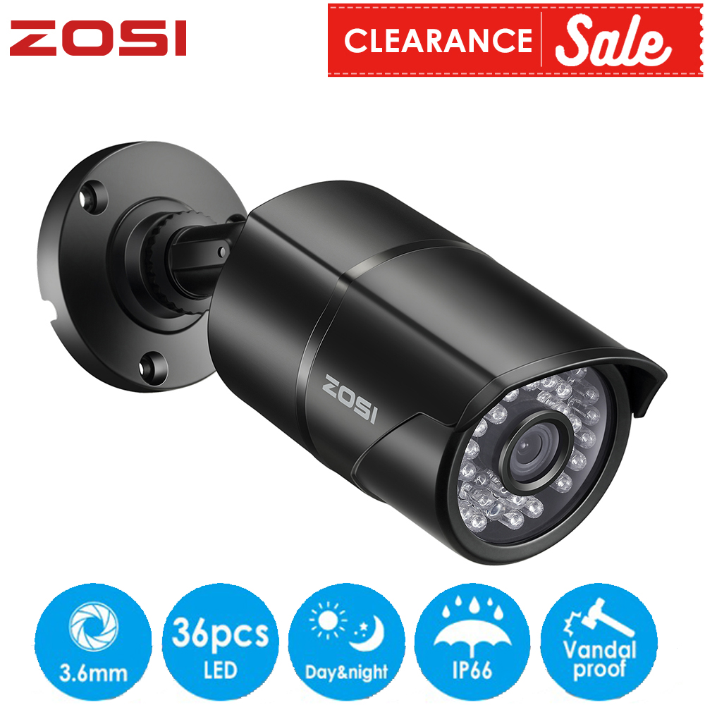 ZOSI 960H 1080P CVBS AHD TVI CVI Color CMOS Sensor Bullet CCTV Video Analog Camera Simulation Waterproof For DVR System