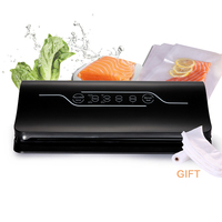 Professional 100 240V Touch Screen Vacuum Sealer With Bag Corner Cutter Dry Wet Soft Food Packaging Packer Machine Home Saver