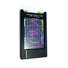 Versão mais recente NanoVNA H4 10KHz ~ 1.5GHz VNA 4 polegada LCD 1950MAh Bateria HF VHF UHF UV Rede Vetorial Analisador de Antena em Caso I3 10