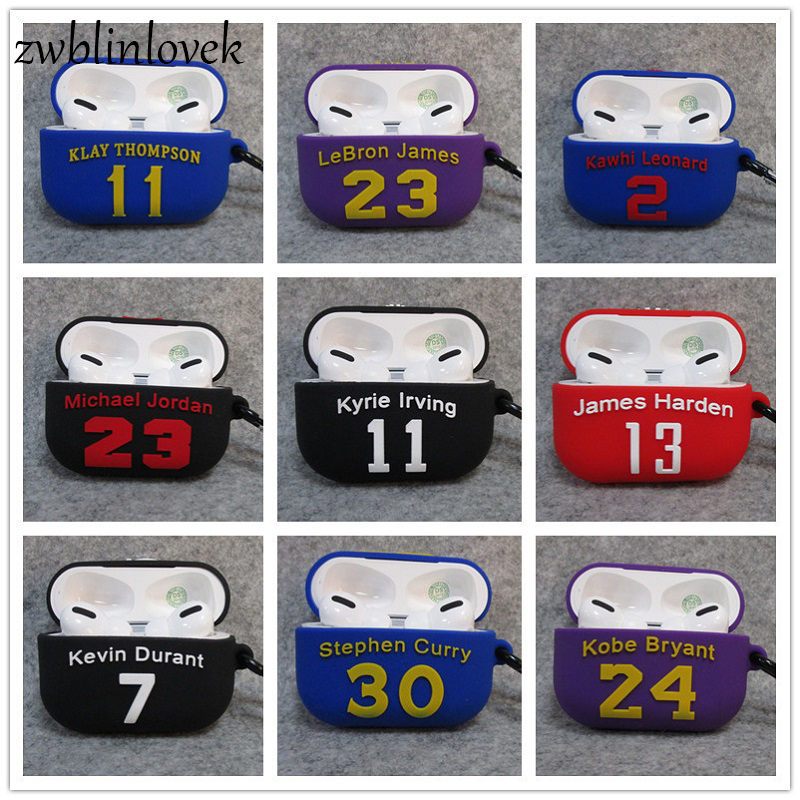 Kobe For Airpods3 Basketball Star Silicone Cover Case Keychain For Case Cute  Airpods Wireless Earphone For Men Gift