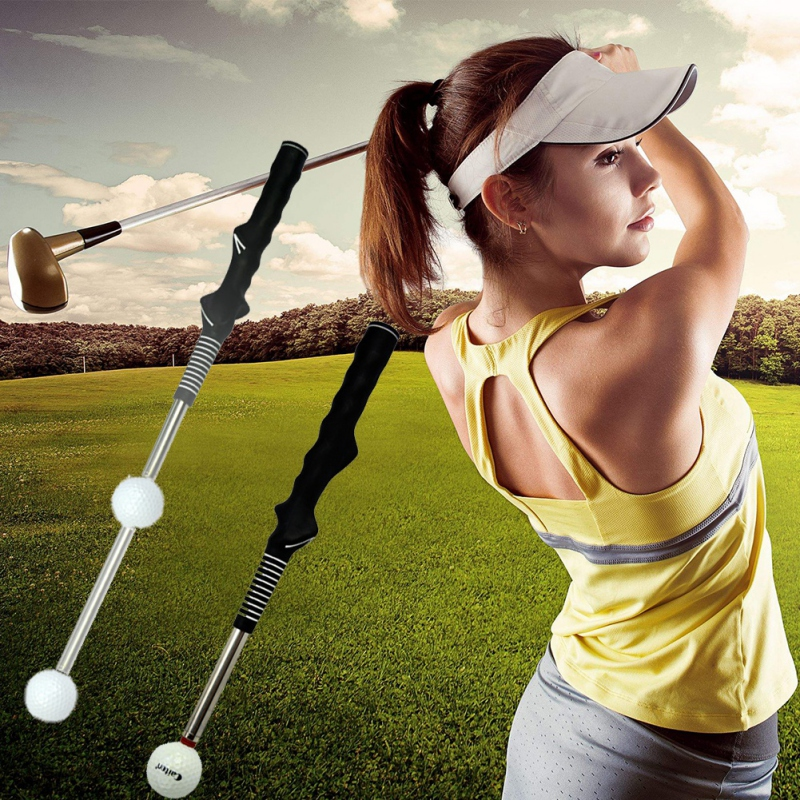 Creative Shrinkable Golf Telescopic Swing Trainer Practical Tempo Grip Strength Golf Warm-Up Stick Golf Training Aid Supplies