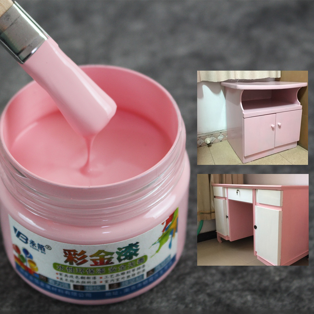 Pink Water-based Paint Wood Varnish Coloring Painting Acrylic Lacquer Paint For Wood Fabric Furniture Wall Ceramic Metal 100g