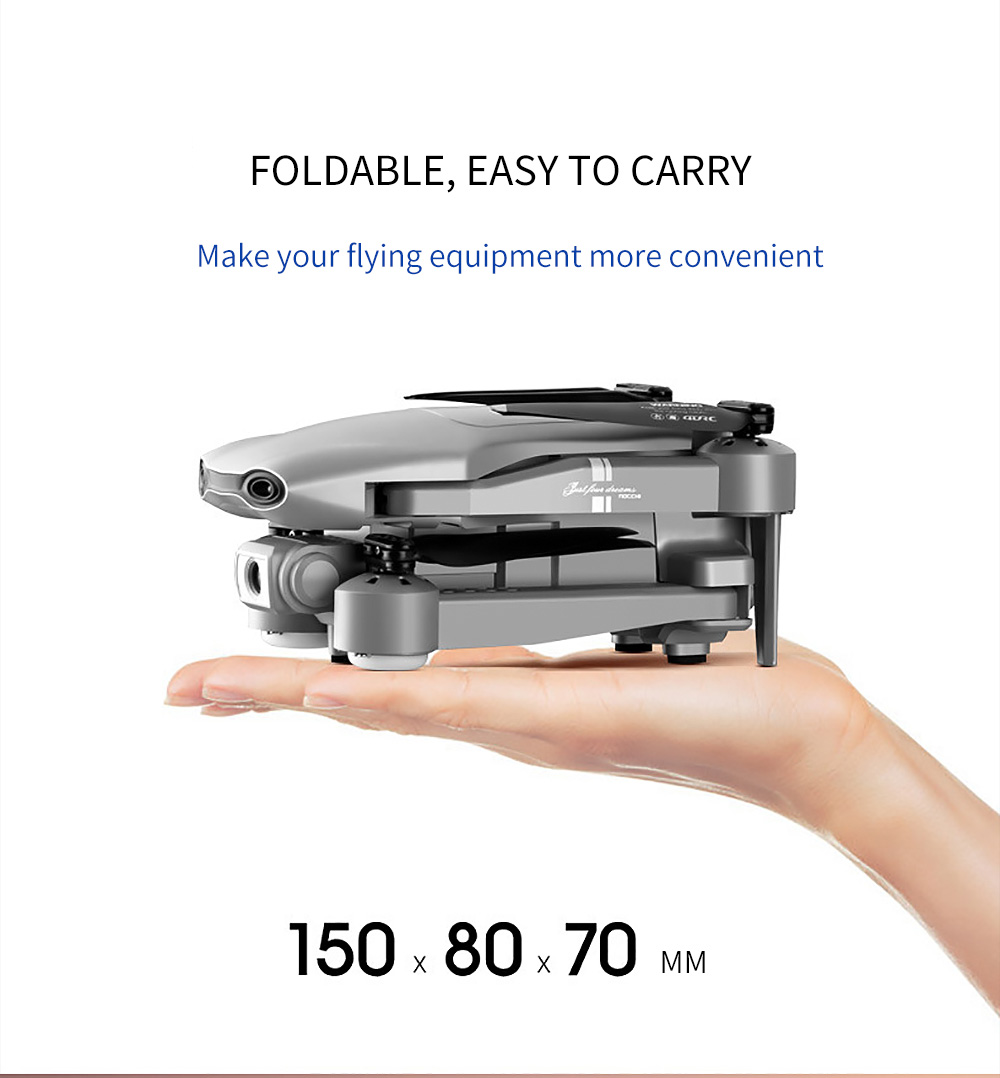 Drone GPS 4K 5G WiFi video en vivo FPV 4K/1080P HD ancho ángulo de cámara plegable altitud Durable RC Drone - 2