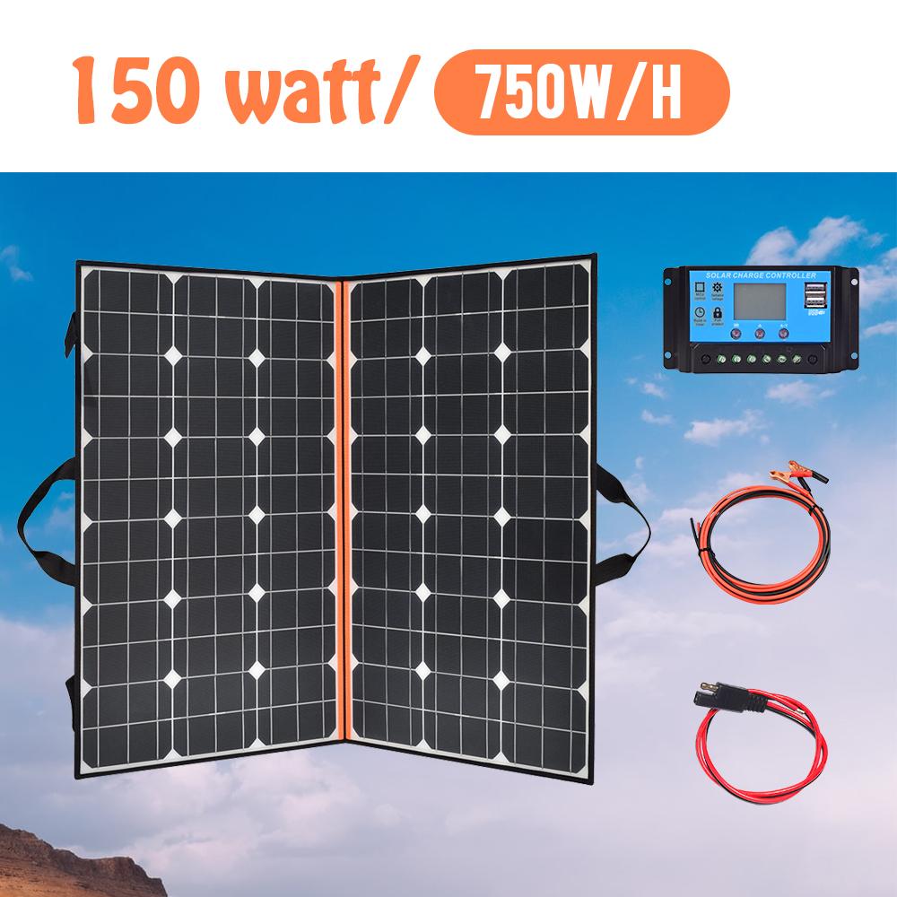 40W 60W 100 watt 120W 150w 200W Foldable Solar Panel Portable Photovoltaic cheap china for Hiking Car&Boat 12v battery Charger