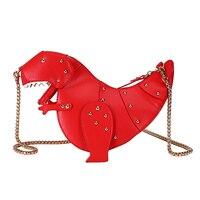 Women Crossbody Dinosaur Bags Design Handbag Chain Girl Purse Shoulder Leather Mini Messenger Bags Sac A Main