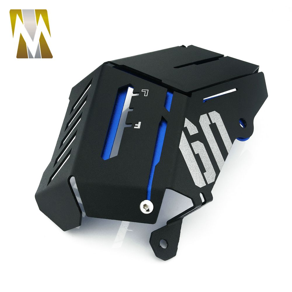 Silver Radiator Side Protective Cover Grill Water Coolant Resevoir Tank Bezel Side Protect Guard Cover For Yamaha MT09 FZ09 FJ09 FJ-09 MT-09 FZ-09 2013 2014 2015 2016