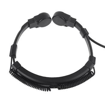 Telescopic Heavy Duty -Tactical Throat Vibration Mic Headphone Headset M17F
