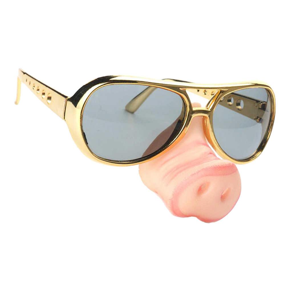 Funny Policeman Copper Pig Joke Fancy Dress Set Sunglasses /& Pig Nose Kit