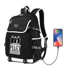Laptop-Bag School-Backpack Blinders Cool Travel College Girl Unisex Hip-Hop for Boy Outdoor