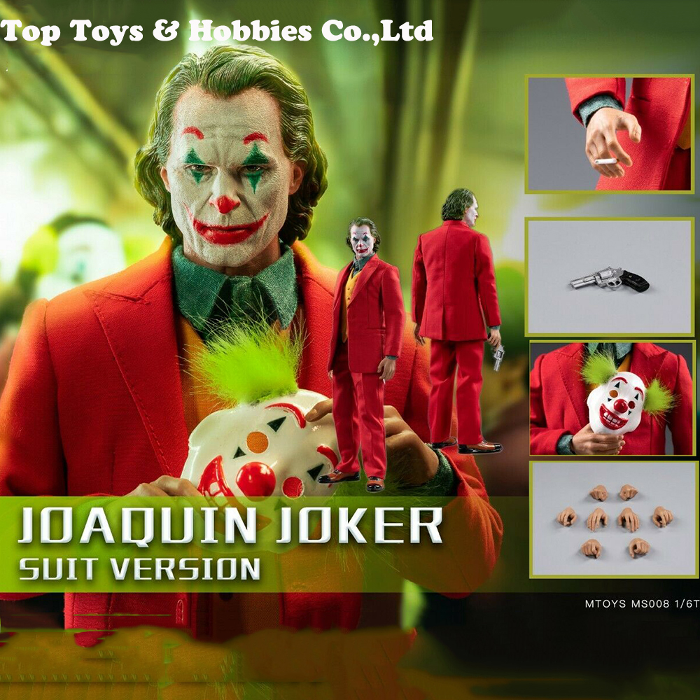 In Stock  FULL SET FIGURE Doll 1/6 MTOYS Ms008 The Comedian 1/6 Joker Clown Joaquin Action Figure With Mask Set