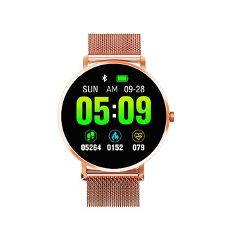 New Fashion Smart Watch Men Alloy Metal Body Design Watch Heart Rate Fitness Tracker Sleep Phone Call Reminder Women Smartwatch
