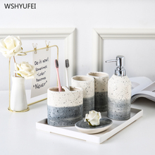 Direct Japanese-style washable bathroom set bathroom mouth cup household creative bathroom supplies ceramic toothbrush cup