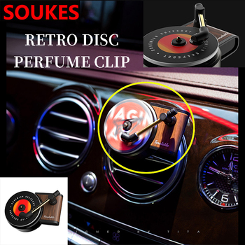 Car Air Vent Classical Record Player Freshener Clip For BMW E46 E90 E60 E36 F20 X5 Ford Focus 2 3 1 Peugeot 206 307 308 Saab image