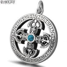 Новинка 100% Серебро 925 пробы колье в тибетском стиле чистое