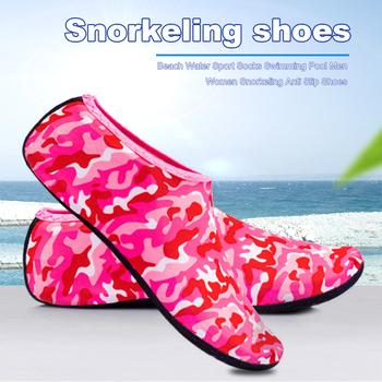 Unisex skarpety do nurkowania boso sporty wodne buty do skóry Aqua Sock Snorkeling nadmorski basen antypoślizgowe skarpety antypoślizgowe buty do jogi tanie i dobre opinie JOCESTYLE CN (pochodzenie) Dobrze pasuje do rozmiaru wybierz swój normalny rozmiar Spring2019 Wsuwane Początkujący oddychająca