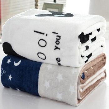 Sheet Bedspread Sofa Plaid Throw Light Thin 70*100cm Micro Plush Fleece Blankets Soft Warm Coral Fleece Blanket Winter