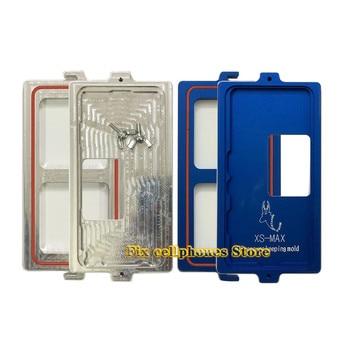 Molde para iphone xs, molde xs/xsmax/Marco de bisel de molde con pantalla lcd, protección de posicionamiento, molde de compactación con alineación de bloqueo de tornillo
