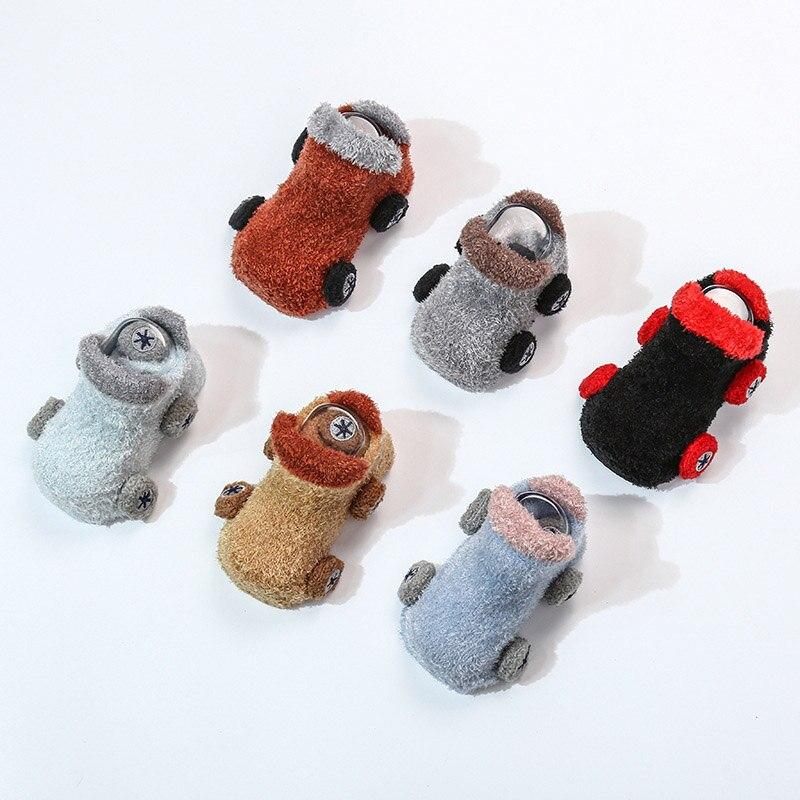Spring And Autumn New Cute Cartoon Car Feather Yarn Baby Infant Socks Newborn Boys Girls Anti-Slip Floor Toddler Socks Colorful
