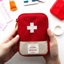 1PC Portable Outdoor Mini Travel First Aid kit Medicine bag Home Small Medical box Emergency Survival Pill Case Storage Bag large medicine bag travel outdoors camping pill storage bag first aid emergency case survival kit