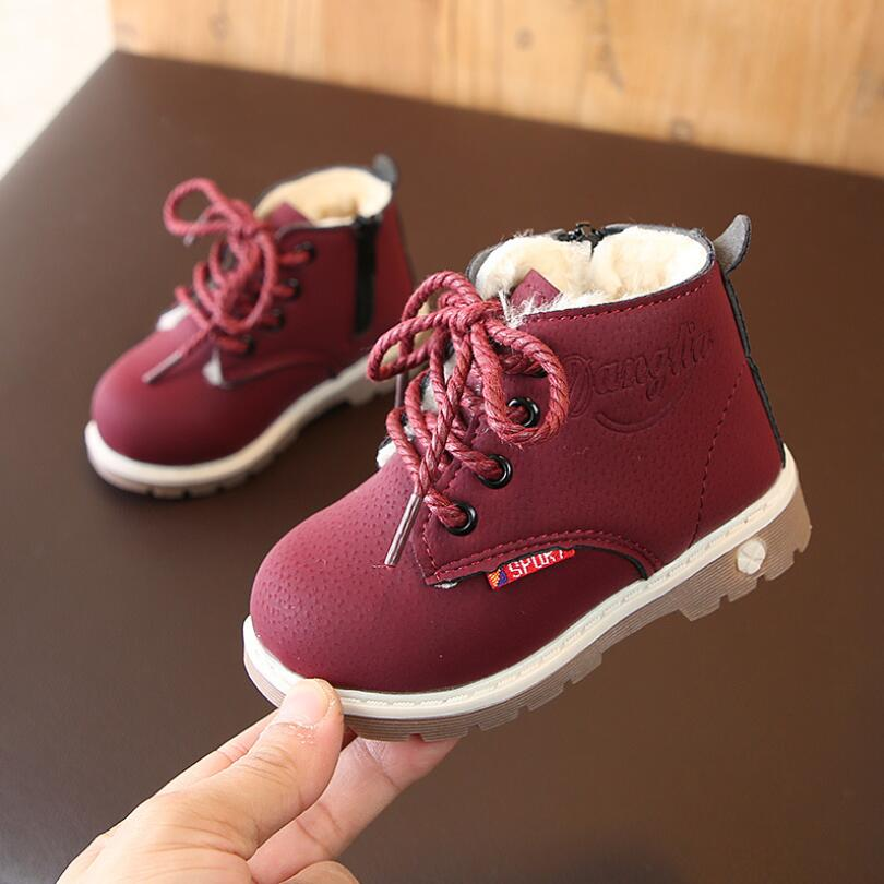 New Soft Fashion Boots Classic Children's Autumn Winter Kid's Warm Snow Boots For Boys Girls School Shoes