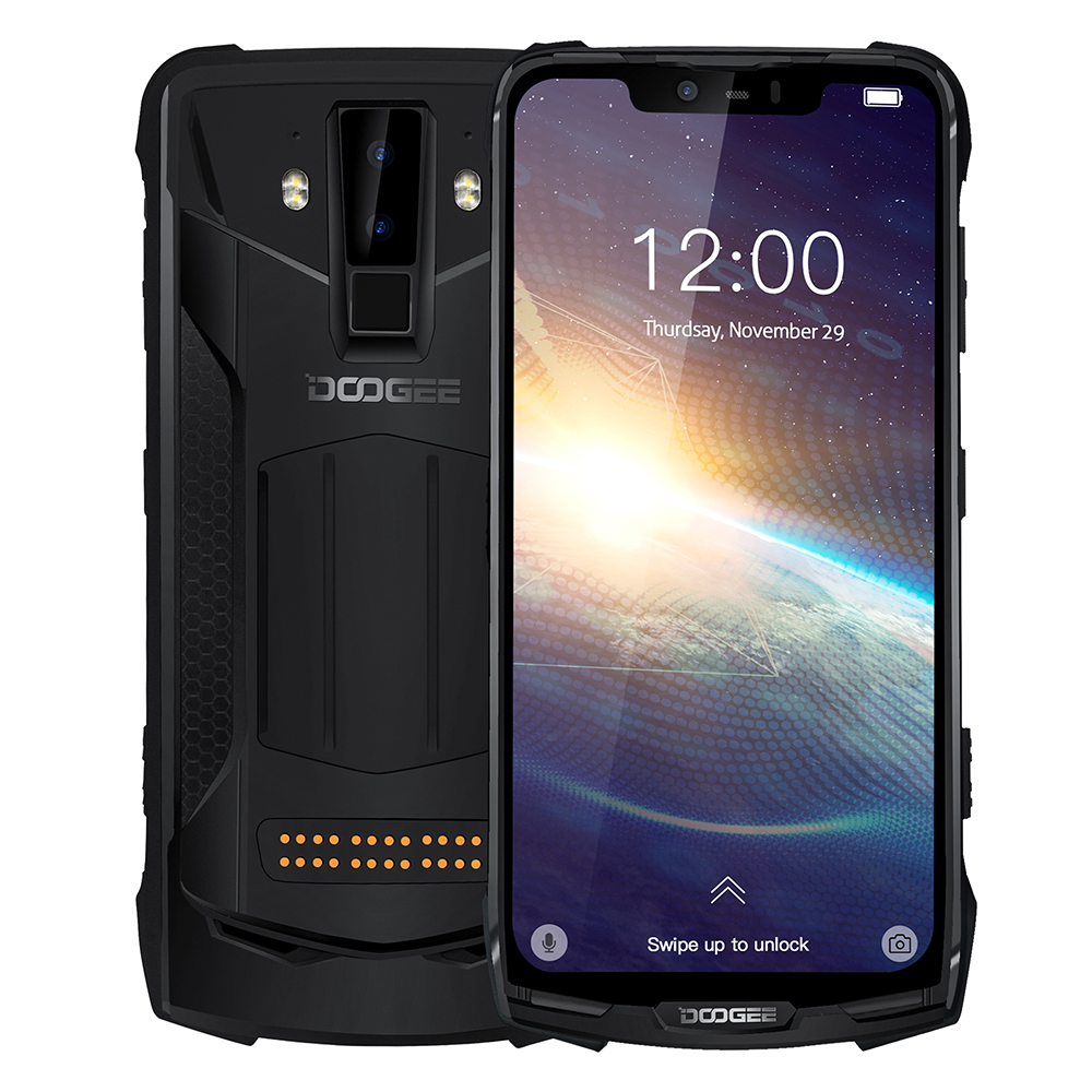 DOOGEE S90 Pro IP69K MIL-STD Waterproof Full Net 6GB 128GB Helio P70 Octa Core 6.18'' 16MP+8MP WiFi Charge Android 9.0 NFC Phone
