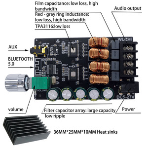 Image 5 - ZK 1002 HIFI 100WX2 TPA3116 Bluetooth 5.0 Cao Cấp Bộ Khuếch Đại Kỹ Thuật Số Âm Thanh Nổi Ban AMP Amplificador Rạp Hát Tại Nhà