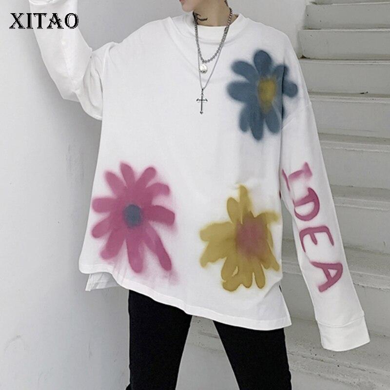 XITAO Letter Pattern Sweatshirt Fashion New 2020 Spring Small Fresh Pullover Elegant Pullover Minority Sweatshirt DMY2625