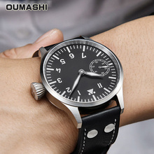 Mechanical Watch Men 44mm OUMASHI Luxury Pilot Military Styl