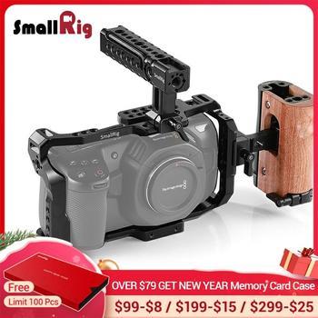 Smallrig Bmpcc 4k Camera Cage Kit For Blackmagic Design Pocket Cinema Camera 4k Comes With A Cage Top Handle Side Handle Leather Bag