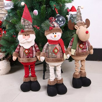 New Year Christmas Big Dolls Window Decorations Christmas Tree Ornaments toys for children Home Decor Innovative Santa Snowman недорого