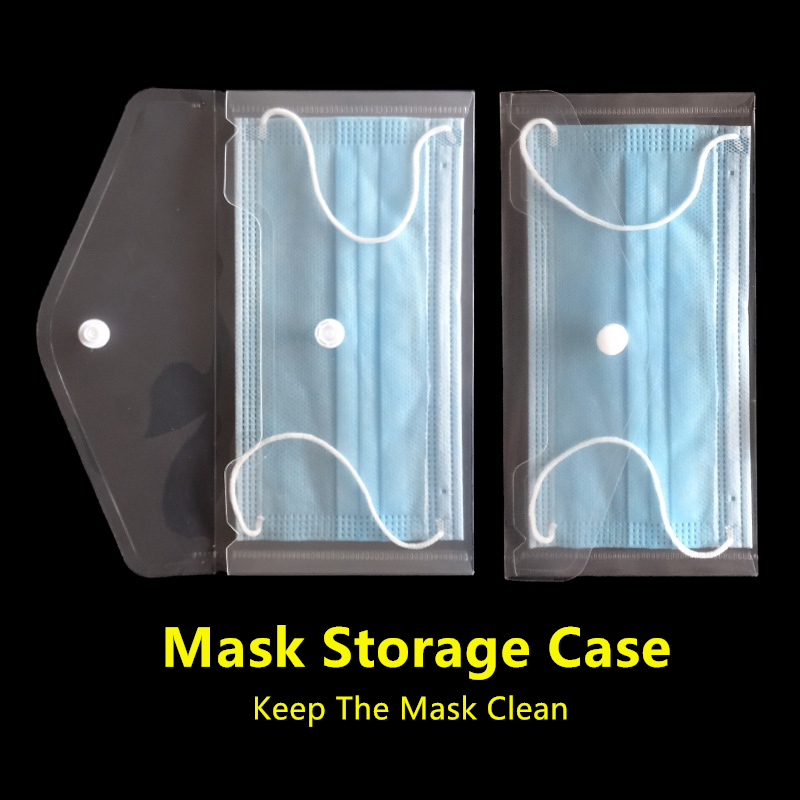 Mouth Mask Storage Box Portable Disposable Mask Holder Dust-Proof Moisture-Proof Multifunction Mask Organizer Bag Dropshipping(China)