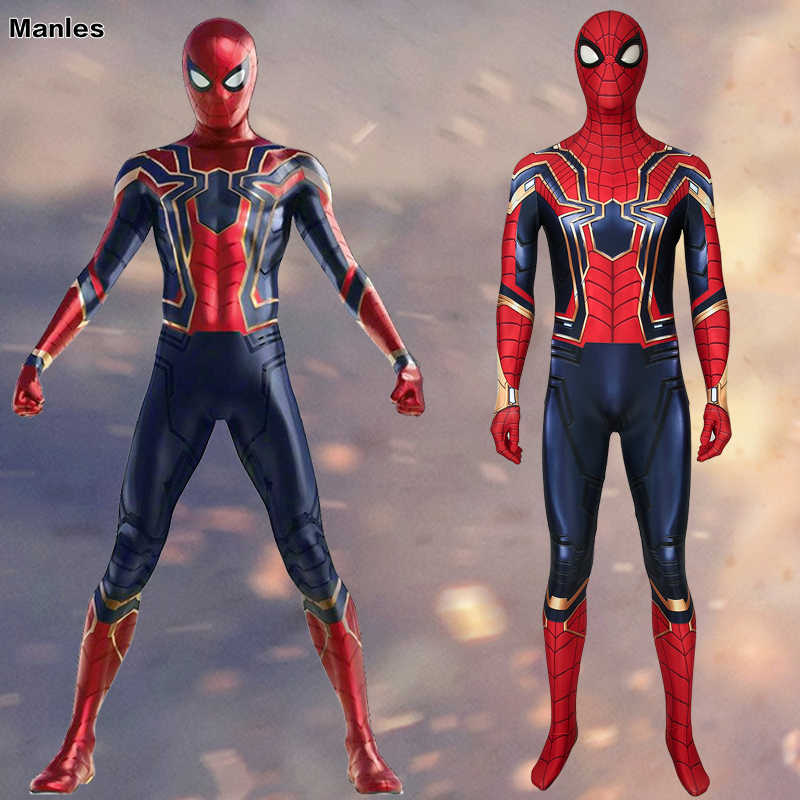 Fim Do Jogo do filme Avengers Spiderman Cosplay Spiderman Traje do Homem-Aranha de Ferro do Regresso A Casa Do Peter Parker Carnaval Dia Das Bruxas Adulto Masculino
