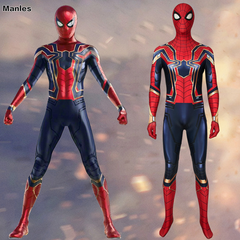 Movie Avengers Endgame Spiderman Cosplay Spider-Man Costume Iron Spiderman Homecoming Peter Parker Carnival Halloween Adult Male