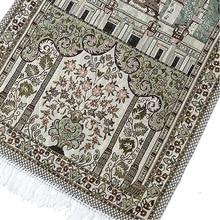 Gebet Teppiche Türkischen Islamischen Muslimischen Gebet Matte Floral Ramadan Eid Quaste Trim Teppich Anbetung Matten Dekoration Ethnischen Stil