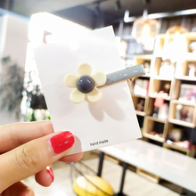 New Fashion Cute Flower Hairclips For Girl Arcylic Lovely Simple Hair Clip Women Handmade Pretty Hairpins Child Headwear