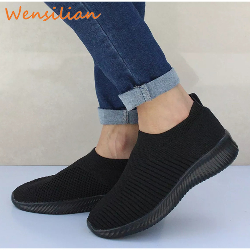 Summer Woman Sneaker Flat Shoes Brand Design Sneakers Ladies Socks Mesh Vulcanized Shoes Trainers Female Basket Chaussures Femme