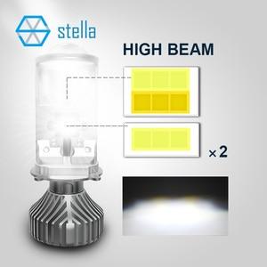 Image 2 - ستيلا توربو led h4 H19 عدسة للمصباح الأمامي 3 لون تغيير كشاف ضوء لمبات للسيارات مصباح العدسات للسيارات 3000k 4300k 6000