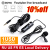 Boya BY M1 3.5Mm Audio Video Record Lavalier Revers Microfoon Clip On Microfoon Voor Iphone Android Mac Dslr Podcast Camcorder recorder
