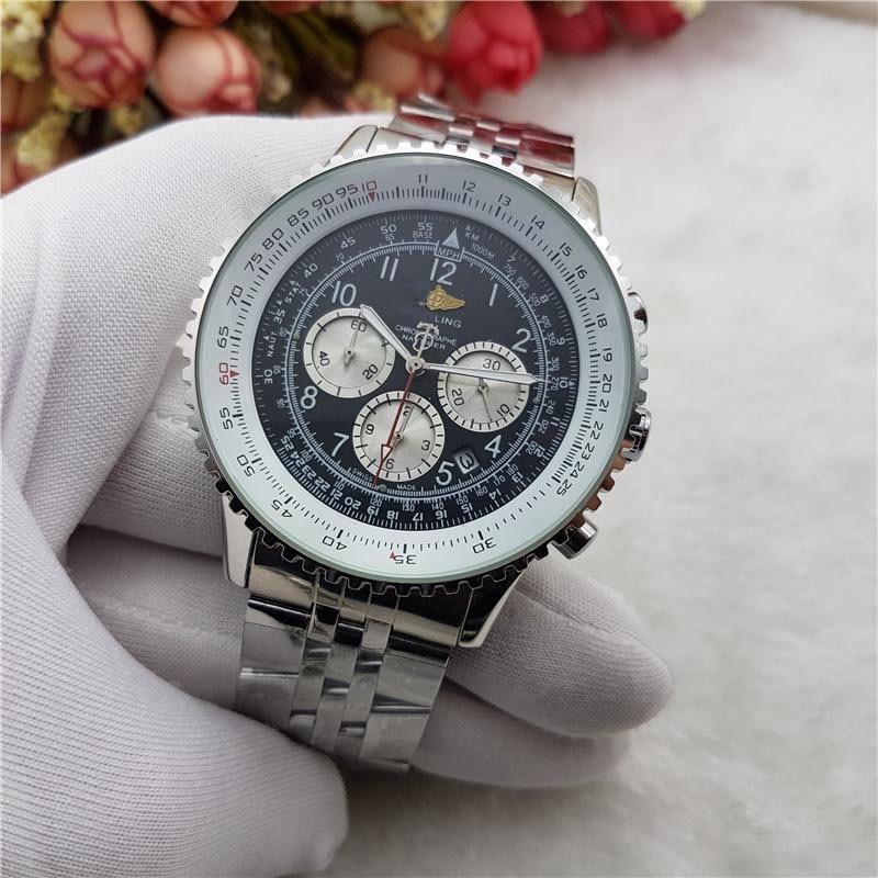 Luxury Brand Mens Wristwatch Watches Quartz Watch With Stainless Steel Strap Relojes Para Hombre