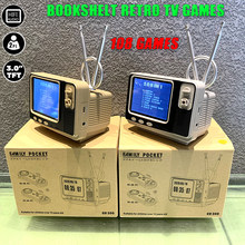 Mini Bookshelf Retro TV Game Console Handheld Video Game Console with 2 Wireless Controllers Built-in 108 Games For NES AV Out