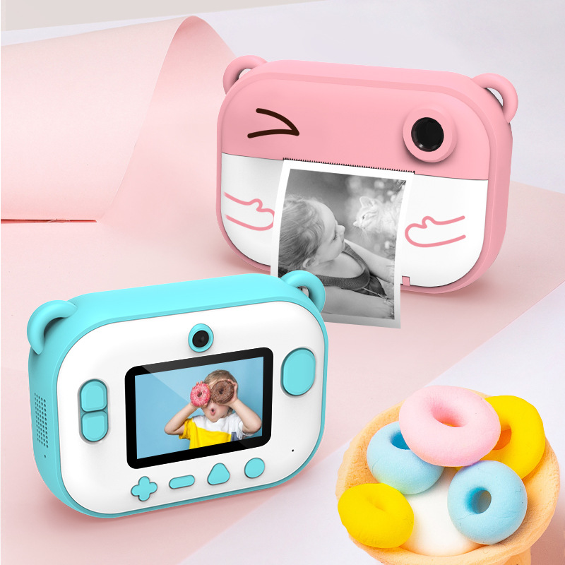 fast instant thermal printer polarioid camera 1200 pixels amera dual lens optical glass for kids gifts (3)