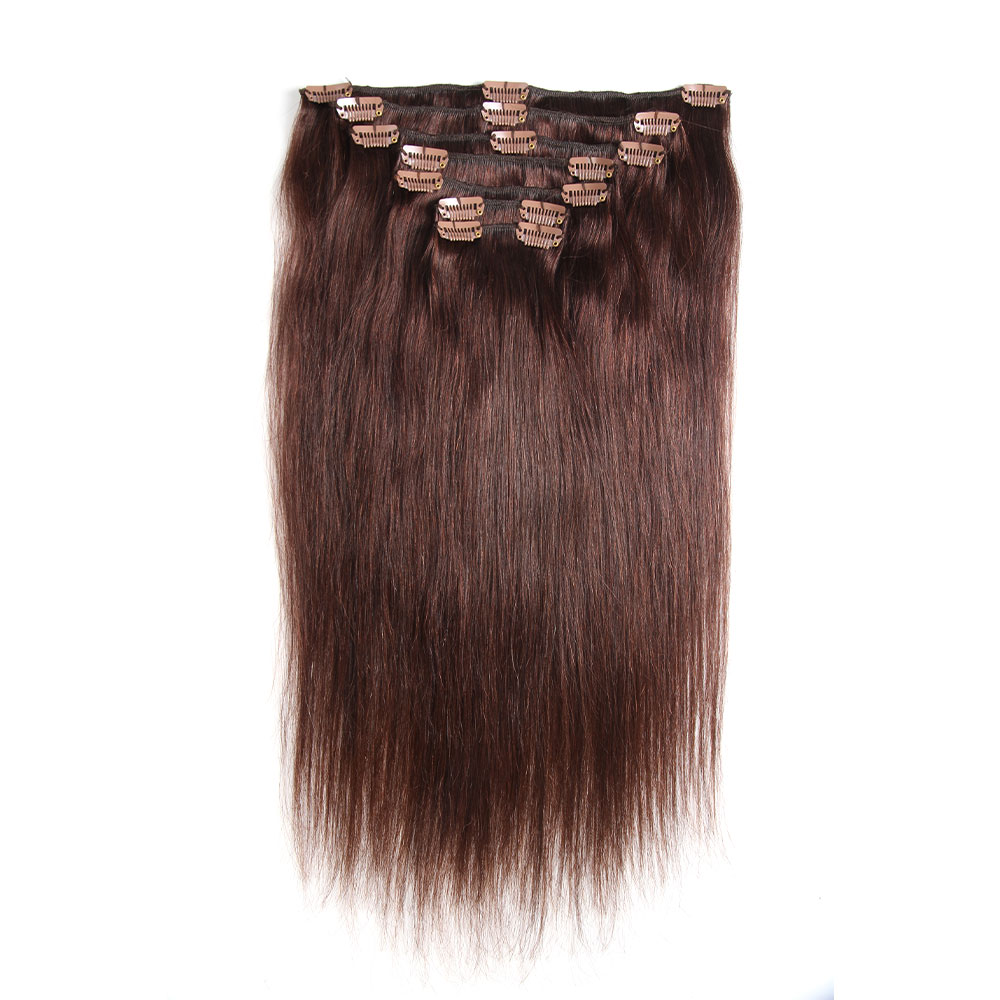 Brazilian Straight Hair Clip In Human Hair Extensions 7 Pieces/Set 120G Remy Hair Clip In Hair Extensions Full Head