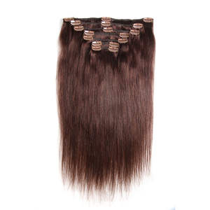 Hair Hair-Extensions Clip-In Straight Brazilian 7pieces/Set Full-Head 120G