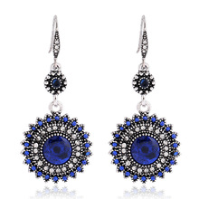 New Retro Bohemian Earrings Jewelry Statement Charm Big Pendant Sun Flower Exquisite Female National Wind