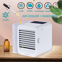 USB Mini Portable Air Conditioner Humidifier Fan Refrigeration Humidification Purification Summer Micro Cooler Fan Home Office