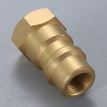 """R12 para r134a adaptador de conversão válvula de bronze 1/4 """"sae rosca fêmea 8v1"""