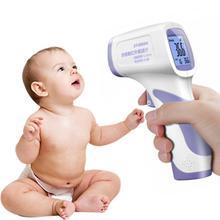 Digitale Infrarood Thermometer Lichaamstemperatuur Pistool Volwassen Kids Voorhoofd Contactloze Voorhoofd Body Thermometer W/Backlight In Voorraad