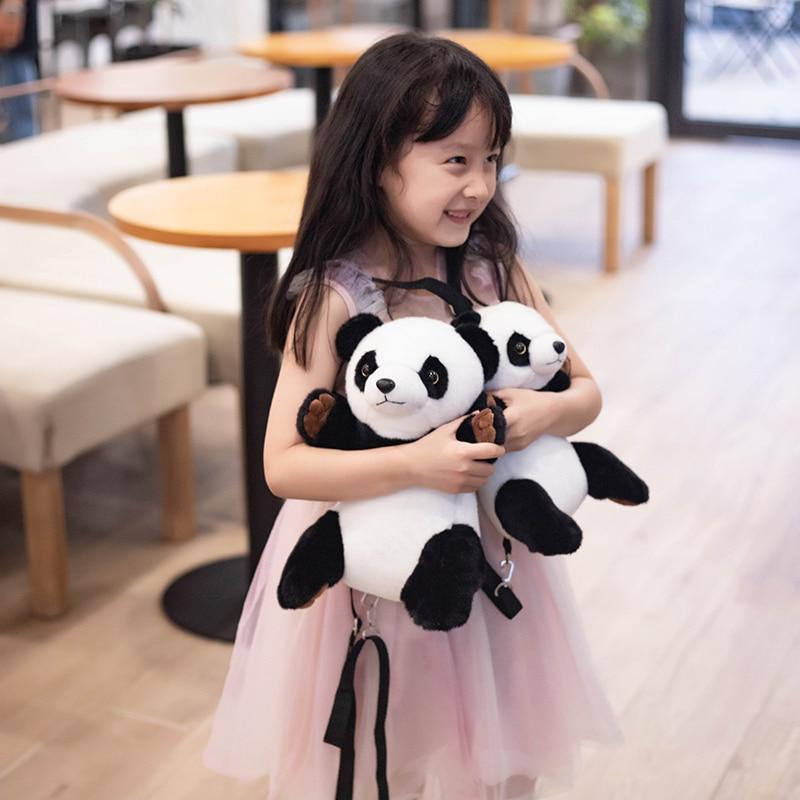 Panda Backpack Toy Kawaii Stuffed Animals Travel Backpacks Soft Cute Panda Plushie Backpacking Doll Birthdays Gift For Girls Just6F