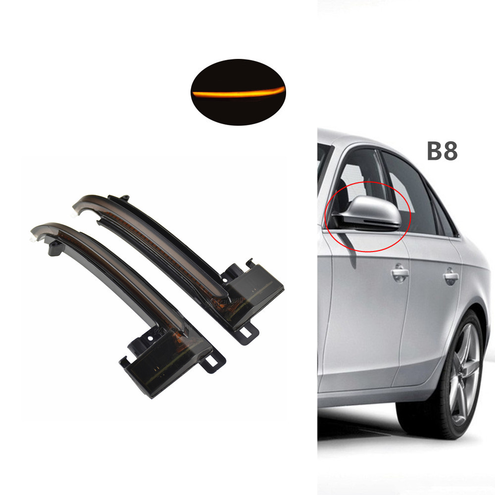 Dynamic Blinker Mirror Light For <font><b>Audi</b></font> A3 8P A4 A5 B8 Q3 A6 C6 4F S6 S4 S5 <font><b>A8</b></font> <font><b>D3</b></font> 8K S8 <font><b>LED</b></font> Turn Signal Side Indicator image