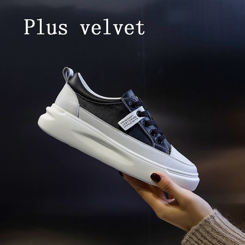 Big Size Women Sneakers Autumn Leather Light White Sneaker Female Platform Vulcanized Shoes Spring Casual Breathable Sports Shoe 7